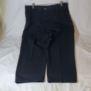 George Flat Front Navy Dress Pants